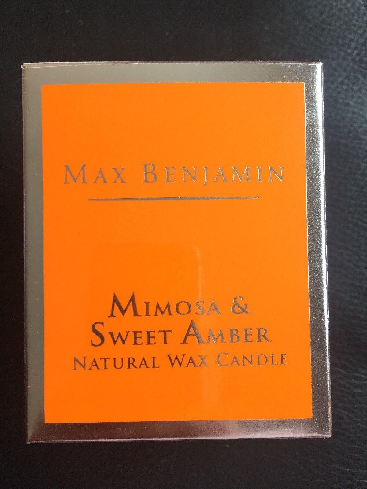Max Benjamin Mimosa And Sweet Amber Candle - BNIB