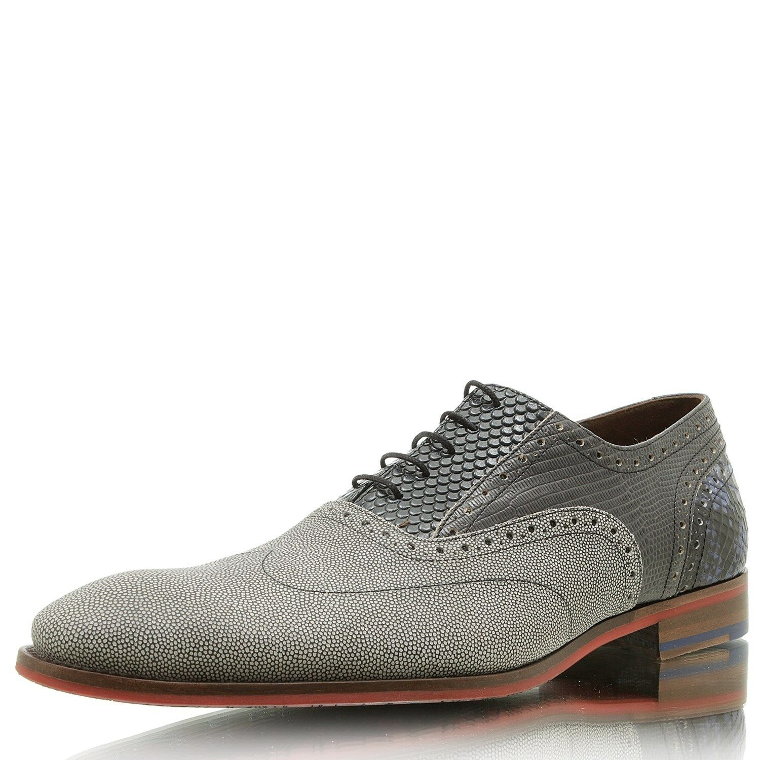 FLORIS VAN BOMMEL Dressed 19114/00 grey suede