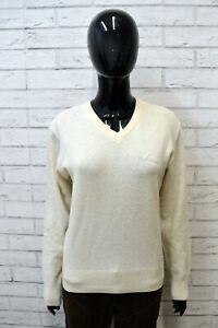 Maglione-Bianco-Donna-JECKERSON-Taglia-XL-Pullover-Sweater-Woman-White-Cardigan