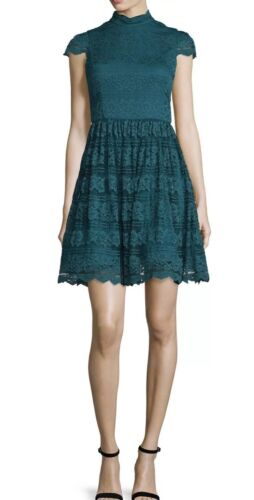 Maureen Open rug Flare Olivia Maat jurk Turquoise Alice Fit Nwt Lace 0 T3K1JcFl