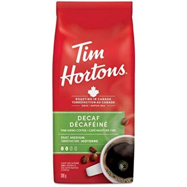 Tim Hortons Decaf Coffee, Fine Grind Bag, Medium Roast