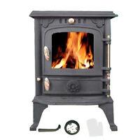 Small Cast Iron Stove Heater Fireplace Woodburning Log Heating Burner Multifuel