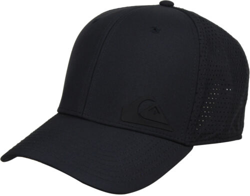 Black Quiksilver Mens Technabutter 2 Snapback Hat