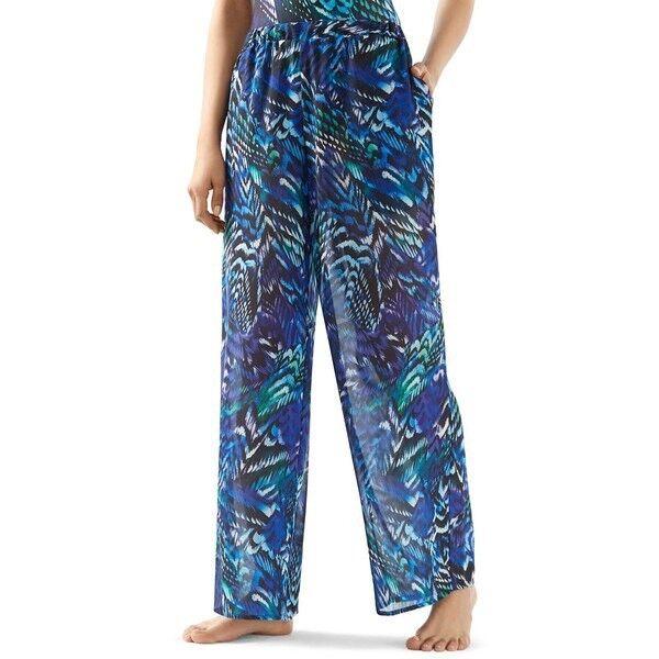 BNWTT 100% Auth GOTTEX Ladies bluee Poetic Wing Long Trousers. S M RRP .00