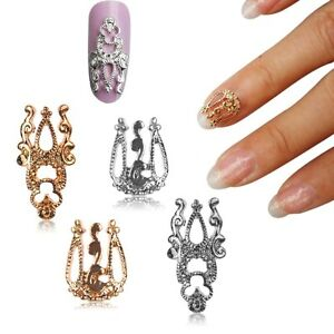 Diy nail art with jewels