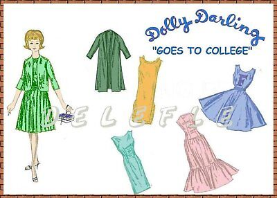 """Dolly Darling Easter Parade wardrobe Doll Pattern for Barbie 11.5/"""""""