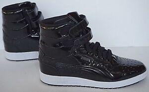 f29758c8df5 NIB Puma Contact 362032 05 black sky II hi patent basketball shoes ...