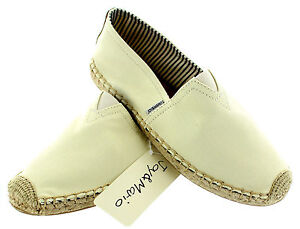 093b2d27b0b Details about JOY & MARIO Womens Basic Hemp Espadrille Canvas Slip-on Flat  Shoes Beige Women