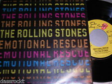 "7"" - Rolling Stones / Emotional Rescue & Down in the Hole - MINT 1980 # 1513"