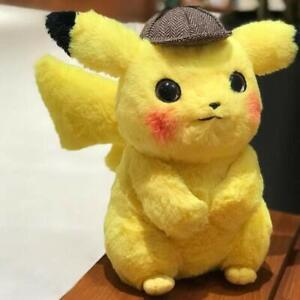 2019-Neuf-Pokemon-maitre-detective-Pikachu-poupee-en-peluche-douce-jouets-28cm