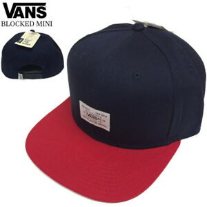 b2d828e8a4a Vans Off The Wall Blocked Mini Navy Blue Red Hat Cap Cotton NWT Mens ...