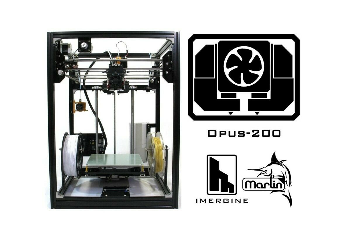 Imergine Opus-200 DIY 3D printer(+Plywood wall with transparent door)