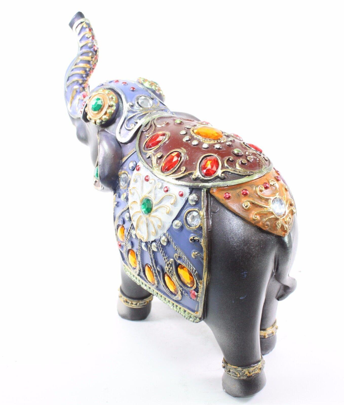 Feng Shui 10 Dark Gray Elephant Trunk Statue Lucky