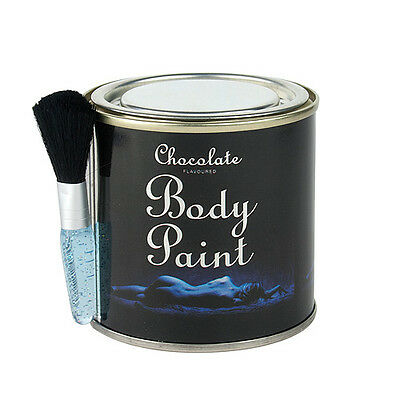 CHOCOLATE BODY PAINT TIN with FREE BUSH Sex Aid Romantic Gift Edible Adult Fun