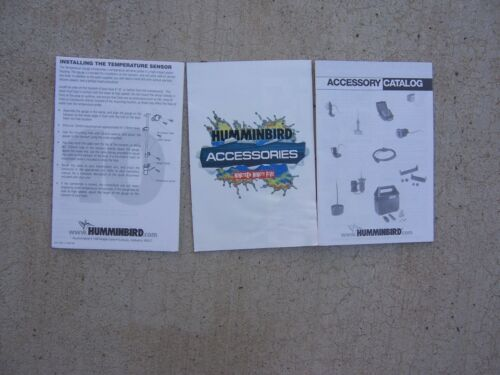 1995 Humminbird Fish Finder Accessories Catalogs Installation Instructions R