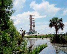 APOLLO 17 SATURN V AT LAUNCH PAD 39A UNDER FULL MOON 11X14 NASA PHOTO LG-001