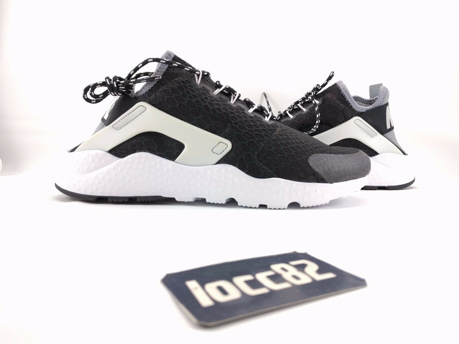 Nike Women Air Huarache Run Ultra 002] SI Premium 10.5 [859516 002] Ultra black grey 2bdc11