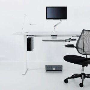 Image Is Loading Humanscale Cpu600 Under Desk Cpu Holder Swivel Mount
