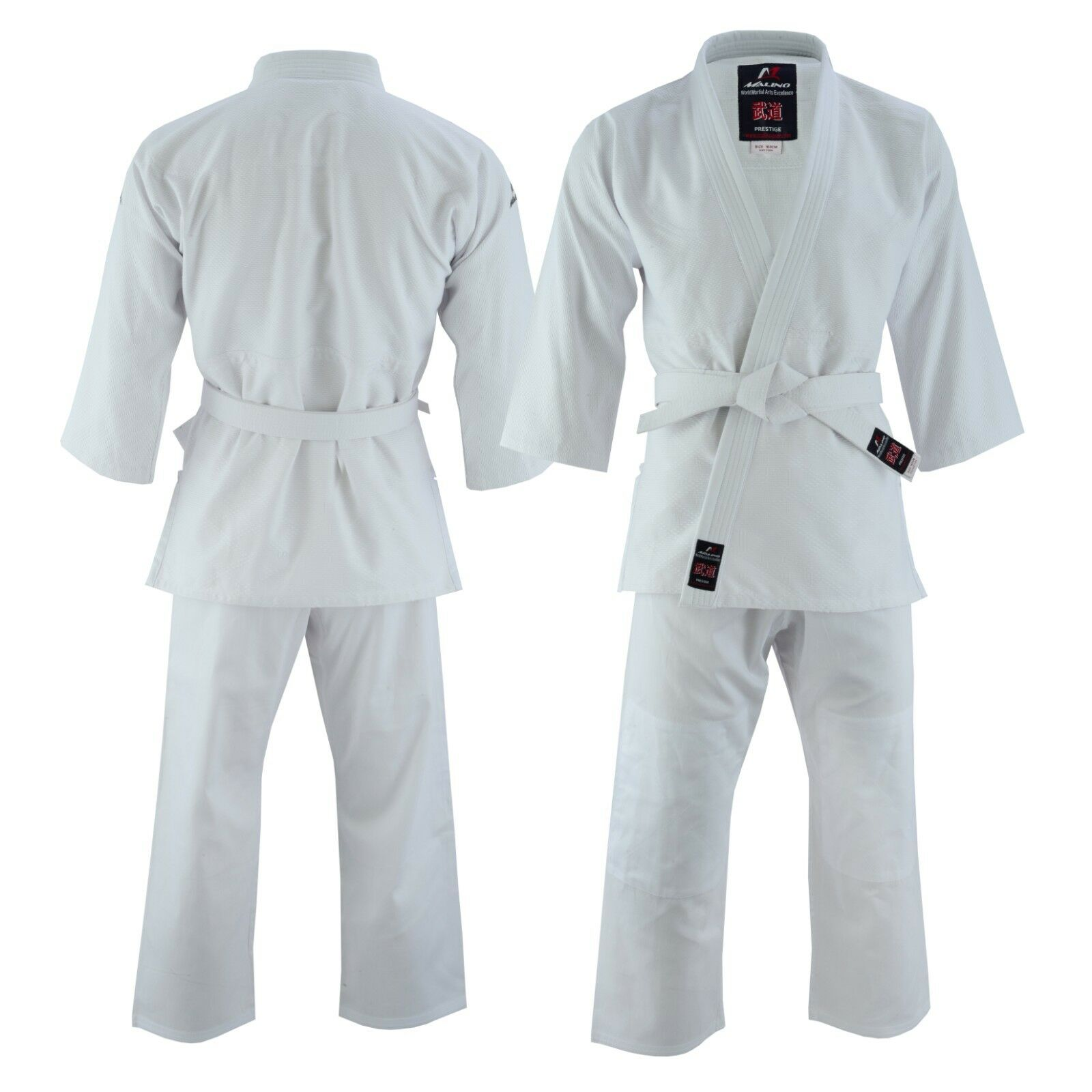 Malino Student Judo Gi Suit Uniform Kids Adult Men Sizes Cotton 450gsm White