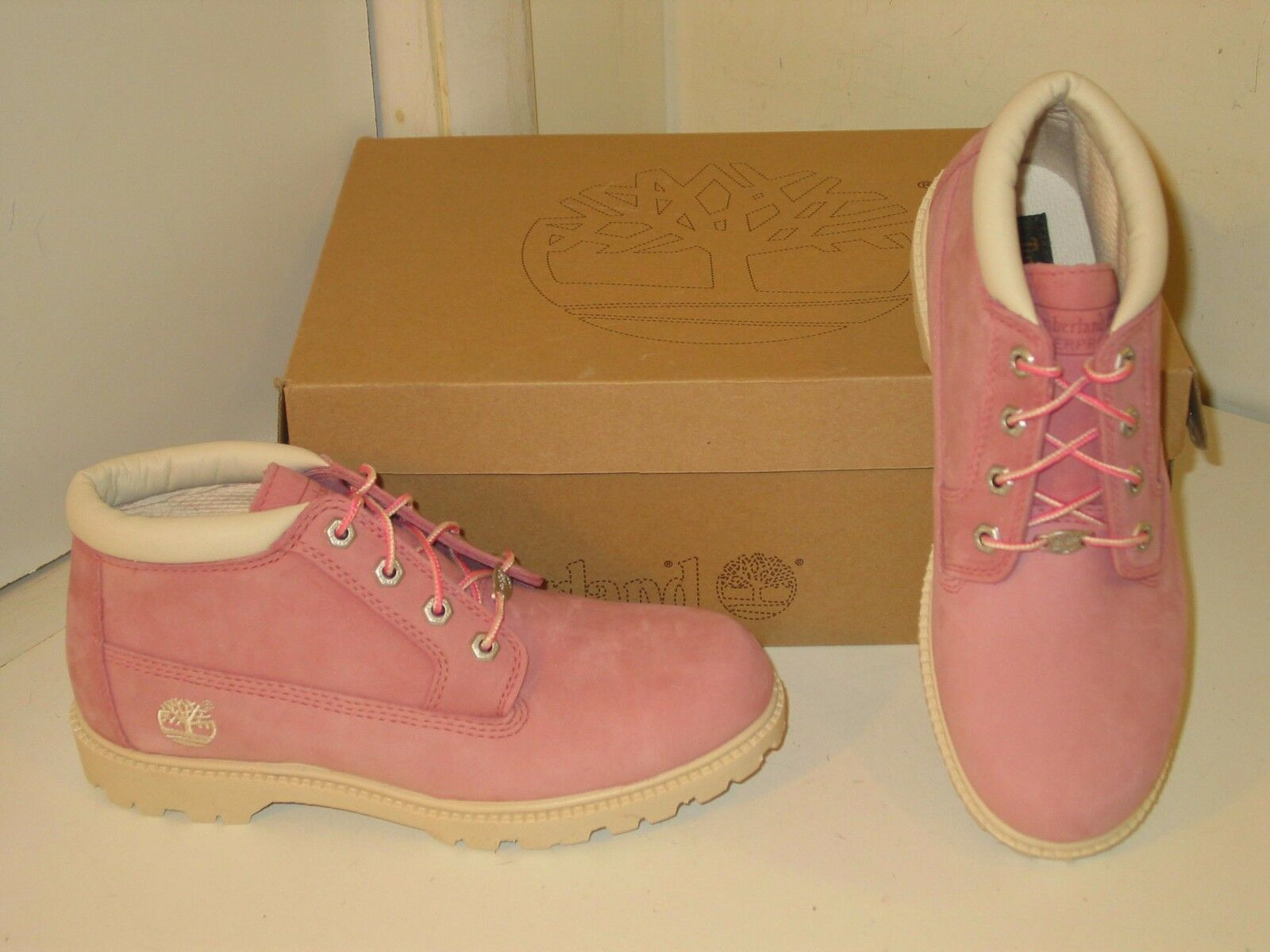 muy elogiado nueva llegada fotos nuevas Timberland Nellie Pink Waterproof Leather Chukka Boots Shoes ...