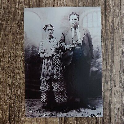8X10 PHOTO FRIDA KAHLO WITH HUSBAND DIEGO RIVERA MEXICAN PAINTERS FB-492