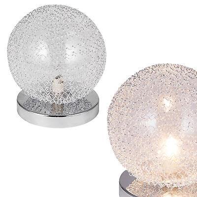 [lux.pro]® Lámpara de mesa [Ø14cm] esfera, lámpara cromada, salón