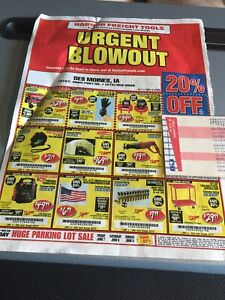 Details about 1 One COUPON Harbor Freight Tools 20% Off Single Item Savings  Valid Through 8/25