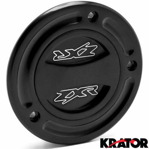 Black Keyless Gas Cap Twist Off Logo For Kawasaki Ninja ZX-10R 2004-2008