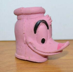 Vintage DISNEY DONALD DUCK Rubber Finger Puppet? Head Toy 1965