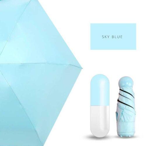 Damen Super Mini Faltbar Regenschirm Sonnenschirm Taschenschirm Kinder leicht