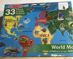 World Map Floor 33 PC Floor Puzzles