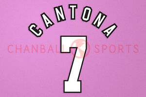 CANTONA #7 1992-1996 Player Size Premier League White Nameset Man United
