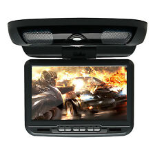 """9"""" LCD Auto Car Flip Down Overhead Roof Monitor SD DVD Player Game TV IR Remote"""