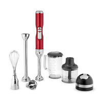 Commercial Kitchen Appliance Cordless Portable Pro Line Hand Stick Blender - Red
