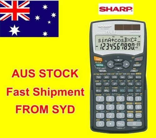 Original new Sharp EL506W BK Scientific Statistics Calculator AU top rate seller