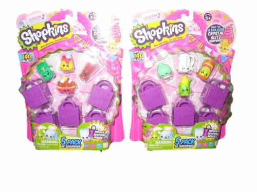 Shopkins S2 5 Pack Playset X 2 Receive 2 sets!! 10 Shopkins, 10 Shopping Bags