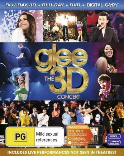 1 of 1 - Glee - The 3D Concert (3D Only Blu-ray, 2011)