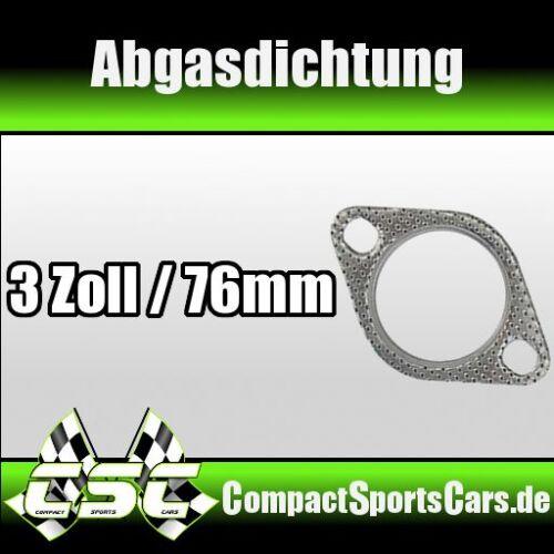 """3/"""" Abgasanlage 3 Zoll // 76mm Abgasdichtung Dichtung AGA Auspuffdichtung"""