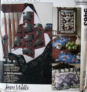 Home Decor Lap Quilt Pattern Jean Wells Wall Hanging Pillow Placemats Ebay