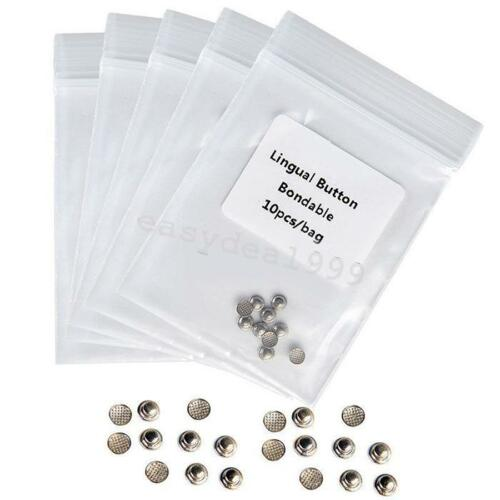 5 Packs Dental Orthodontic Lingual Buttons Bondable Round Base Lab