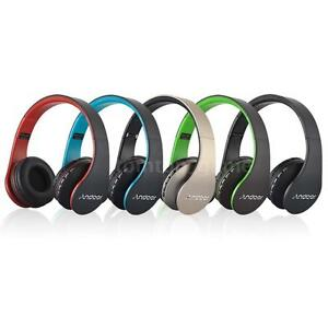 Bluetooth Sans fil Pliable Casque écouteur Mains libres appel Mic MP3 FM TF T7Z3