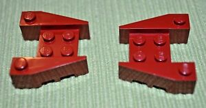 2 Olive Green 4x6 Tapered Nose Bricks ~ Lego ~ NEW ~ Auto Truck