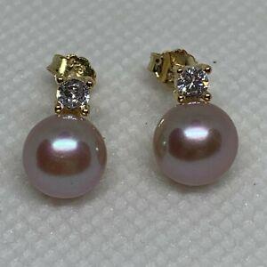 Freshwater Lilac Pearl /'Grape/' Earrings