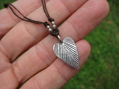 999 silver leaf hill tribe pendant necklace northern Thailand