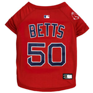 MOOKIE-BETTS-50-Boston-Red-Sox-MLBPA-Officially-Licensed-Red-Dog-Pet-Tee-Shirt