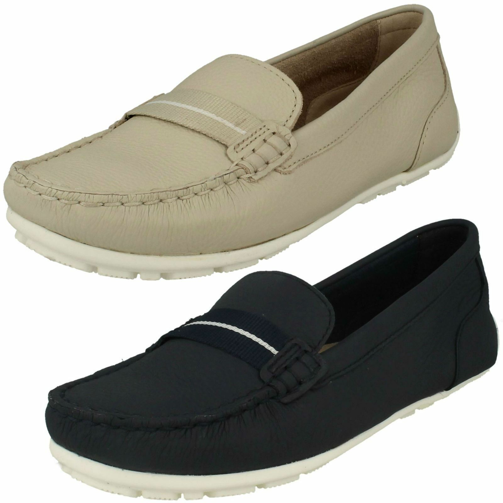 CLARKS LADIES LEATHER SLIP ON CASUAL MOCCASIN SOFT COMFORTABLE chaussures DAMEO VINE