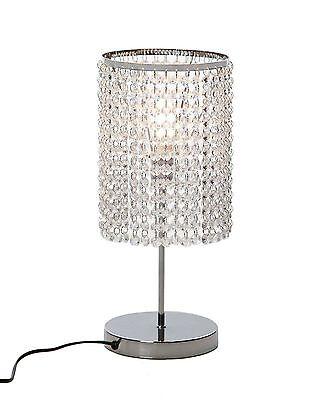 Crystal Table Lamp Bedside Desk Lamp Modern Bedroom Living Room Decorative US
