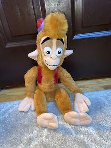 """Disney Store Aladdin Abu Monkey Plush Stuffed Animal 19"""" - 20"""" Stamp"""