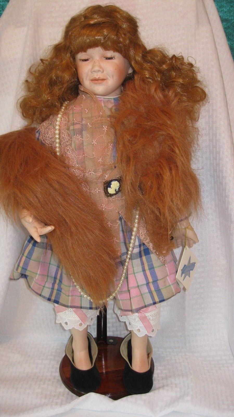 Premiere Artists Collection Porcelain Doll  Lottie Dah 26  used w box