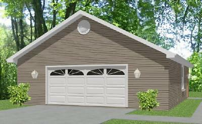 Garage House Home Plans 576 sf PDF file Construction Drawings